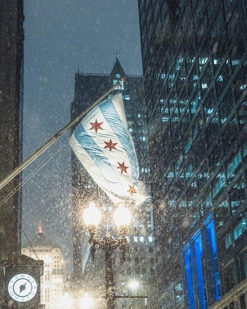 серо синий полосатый звездный флаг