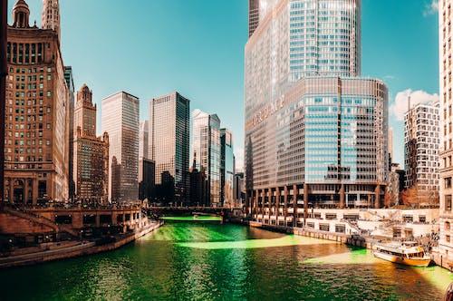 Kostnadsfri bild av arkitektur, byggnader, flod, horisont