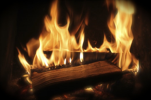 Free stock photo of wood, firewood, fire, fireplace