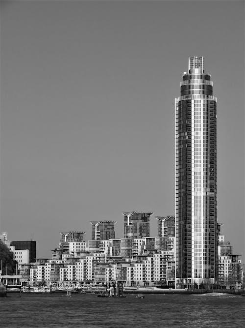คลังภาพถ่ายฟรี ของ การออกแบบสถาปัตยกรรม, ขาวดำ, จุดสังเกต