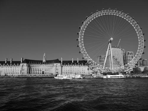 Základová fotografie zdarma na téma architektura, černobílý, cestování, cestovní ruch