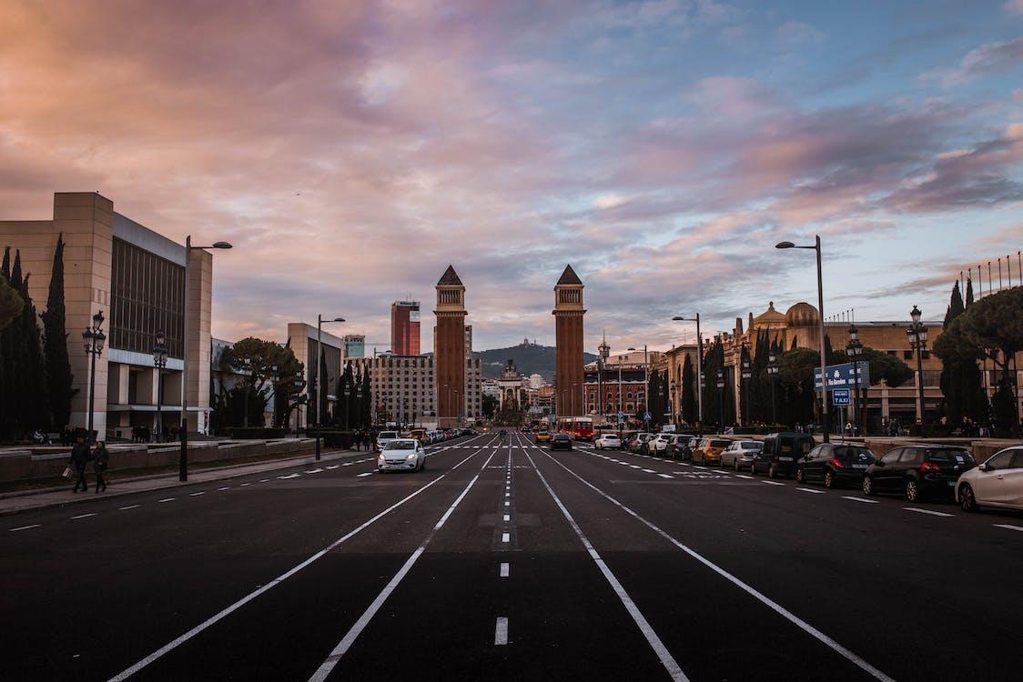 arhitectură, autoturisme, Barcelona