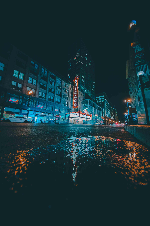 Ingyenes stockfotó belváros, ég, éjszaka, építészet témában