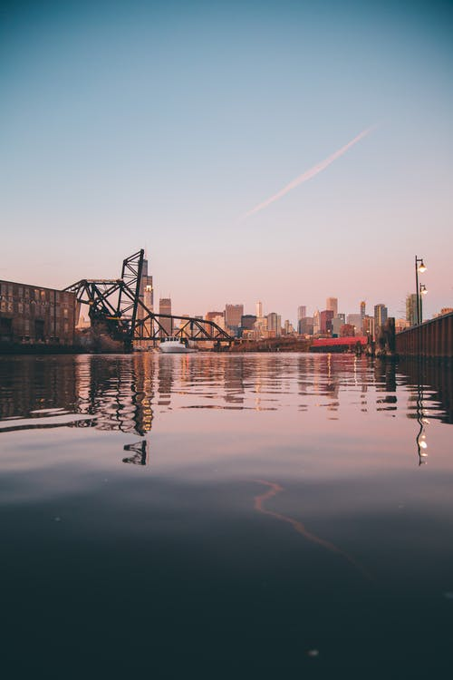 Landmark Photography of Black Metal Bridge