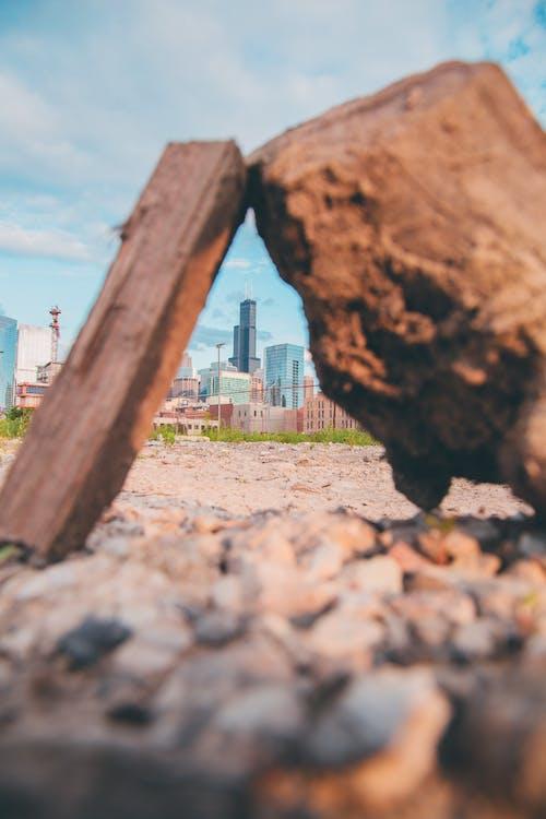 City Buildings on Rock Views