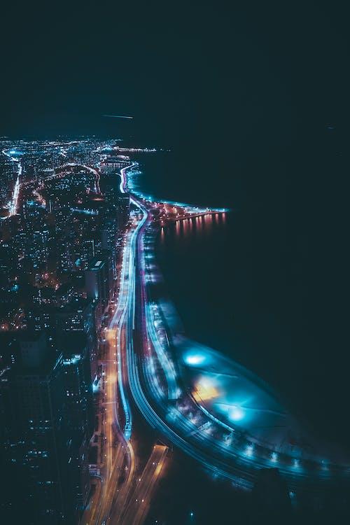 Ảnh lưu trữ miễn phí về ánh đèn thành phố, bờ sông, các tòa nhà, cảnh quan thành phố