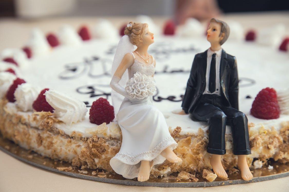 ceremónia, dvojica, jedlo