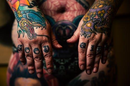 artistik, dövme, dövmeli, iddialı içeren Ücretsiz stok fotoğraf