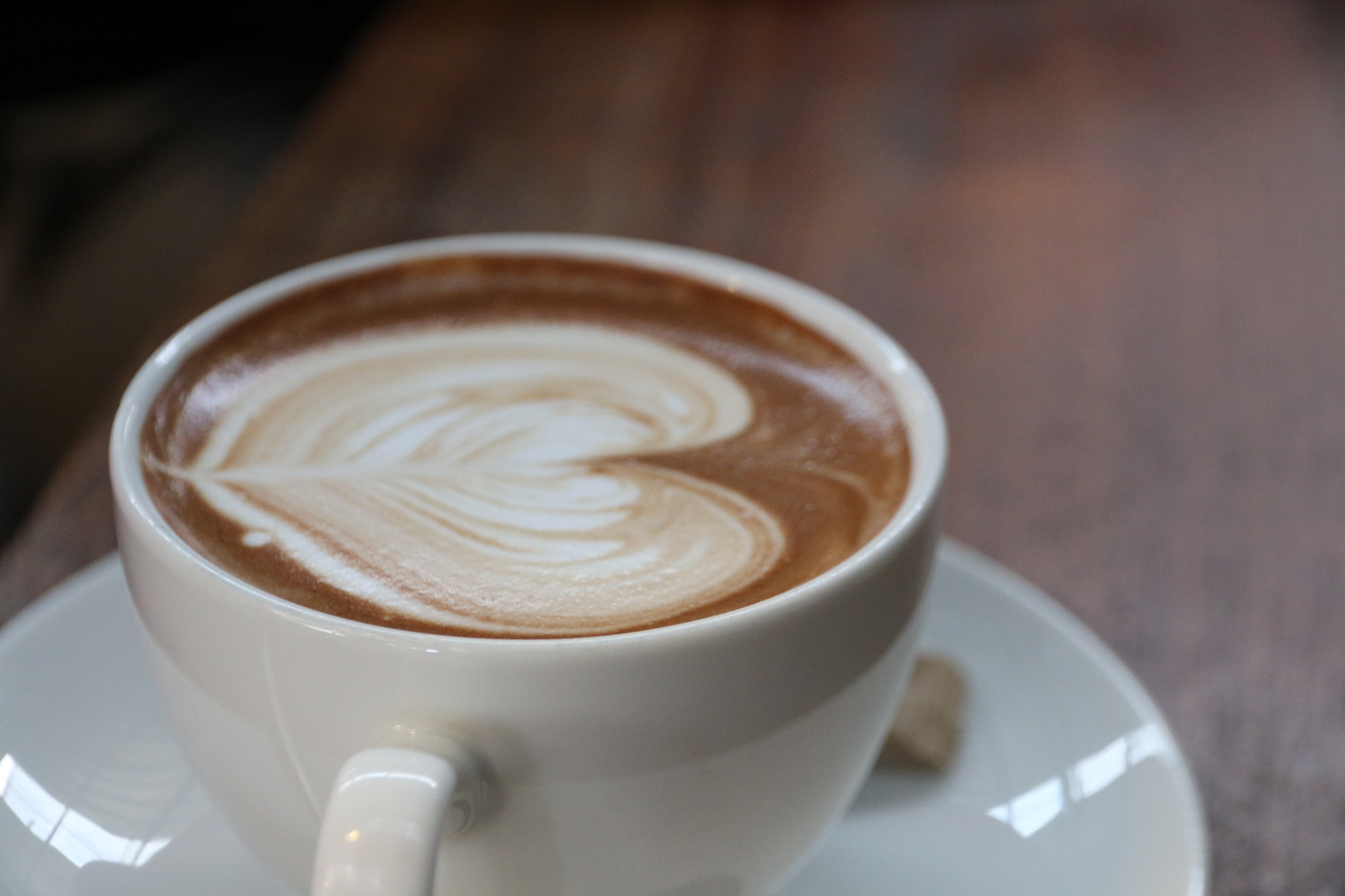 Coffee Latte With Heart Art