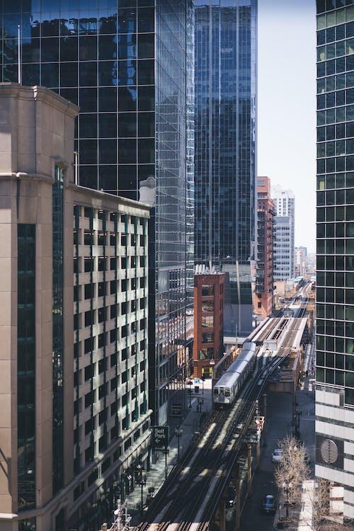 交通系統, 商業, 城市, 市中心 的 免费素材照片
