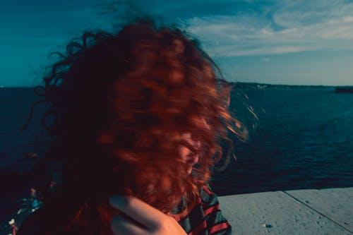 Free stock photo of blue, blurred, italian girl, red