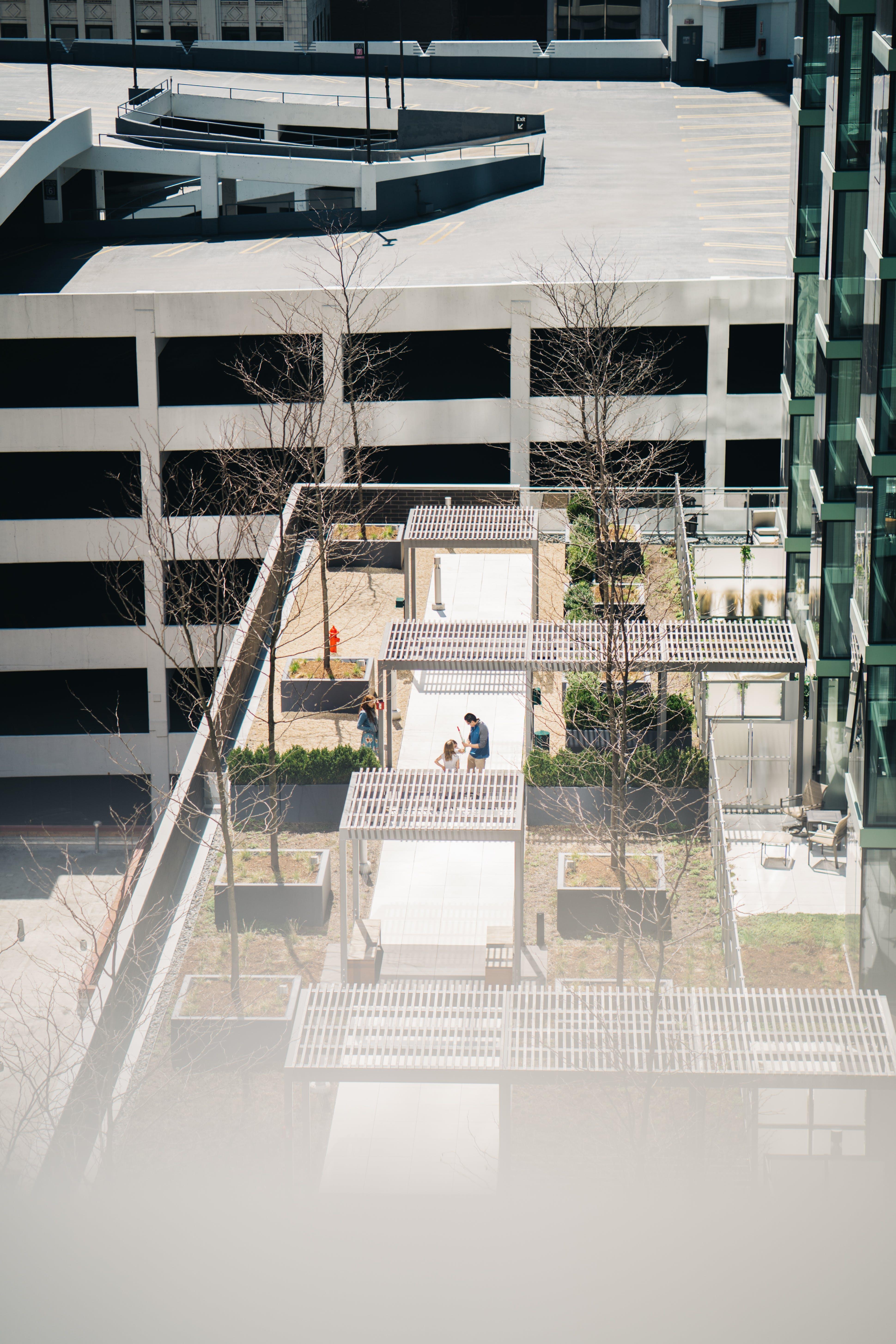 コンテンポラリー, シティ, ハイアングルショット, バルコニーの無料の写真素材