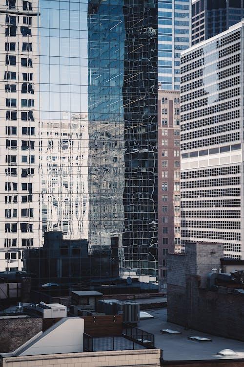アパート, ガラス張り, シティ