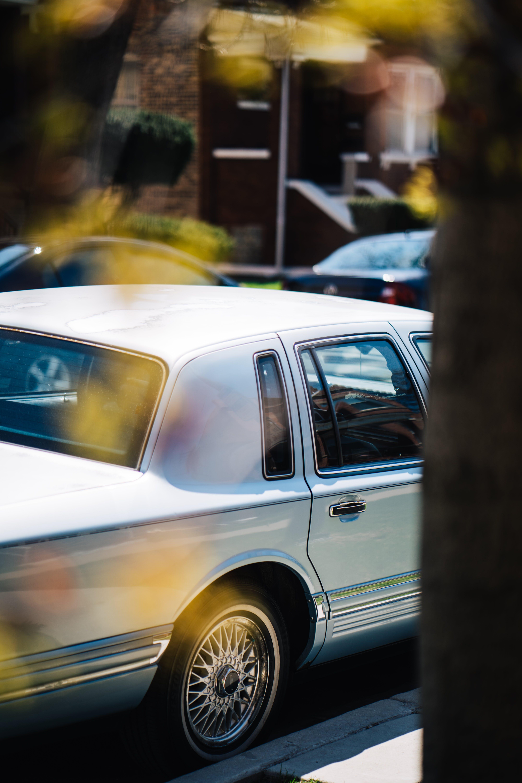 Immagine gratuita di albero, auto, auto classica, auto vecchia
