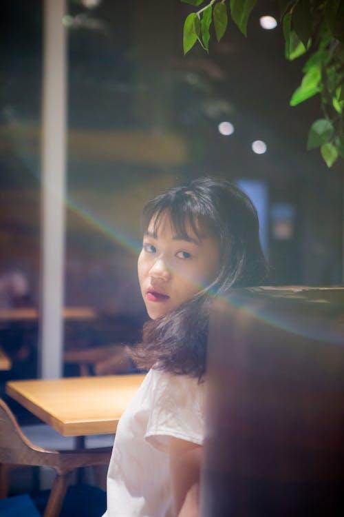 Kostenloses Stock Foto zu asiatin, asiatische frau, draußen, drinnen