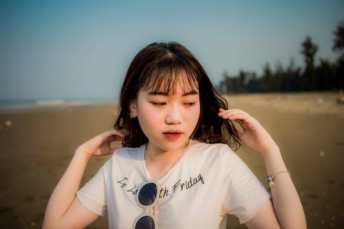 亞洲女人, 休閒, 可愛, 墨鏡 的 免费素材照片