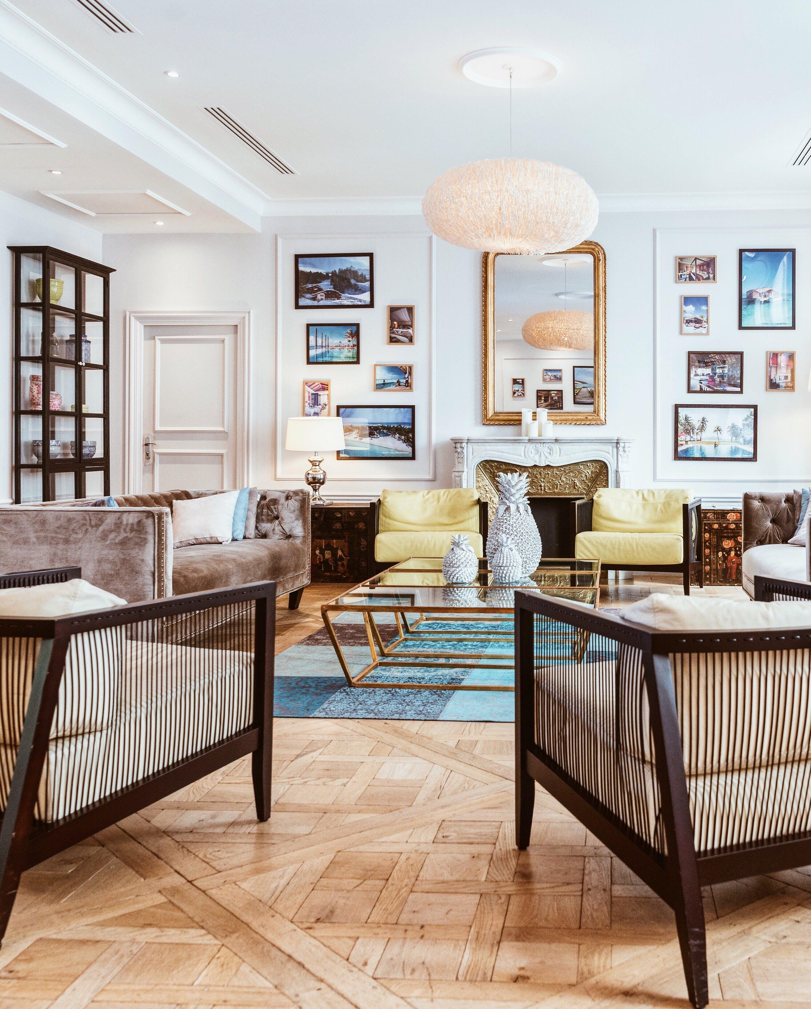 Kostenloses Stock Foto zu drinnen, home interior, innenarchitektur, lampe