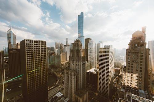 コンテンポラリー, シティ, スカイライン, タワーの無料の写真素材