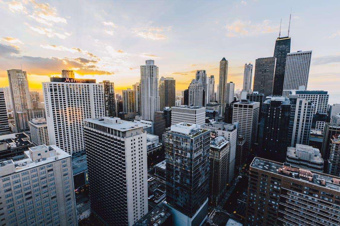 alto, arquitetura, arranha-céu