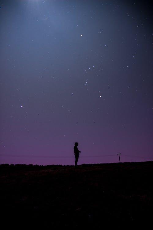 Ingyenes stockfotó árnyékok, celebek, csillagos égbolt, csillagos éj témában