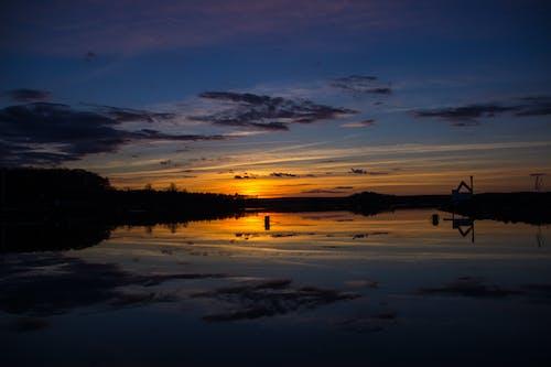 Ingyenes stockfotó alkonyat, arany horizont, békés, erdő témában