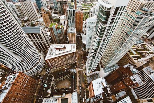 Základová fotografie zdarma na téma architektura, budovy, fotka zvysokého úhlu, město