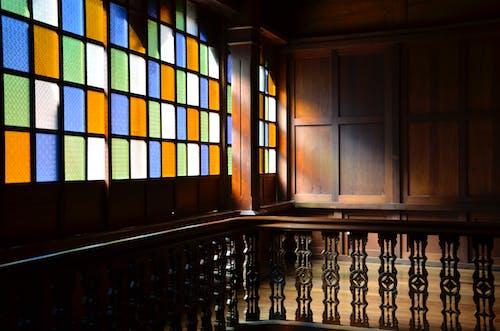 ステンドグラス, マスターピース, 古い家の無料の写真素材