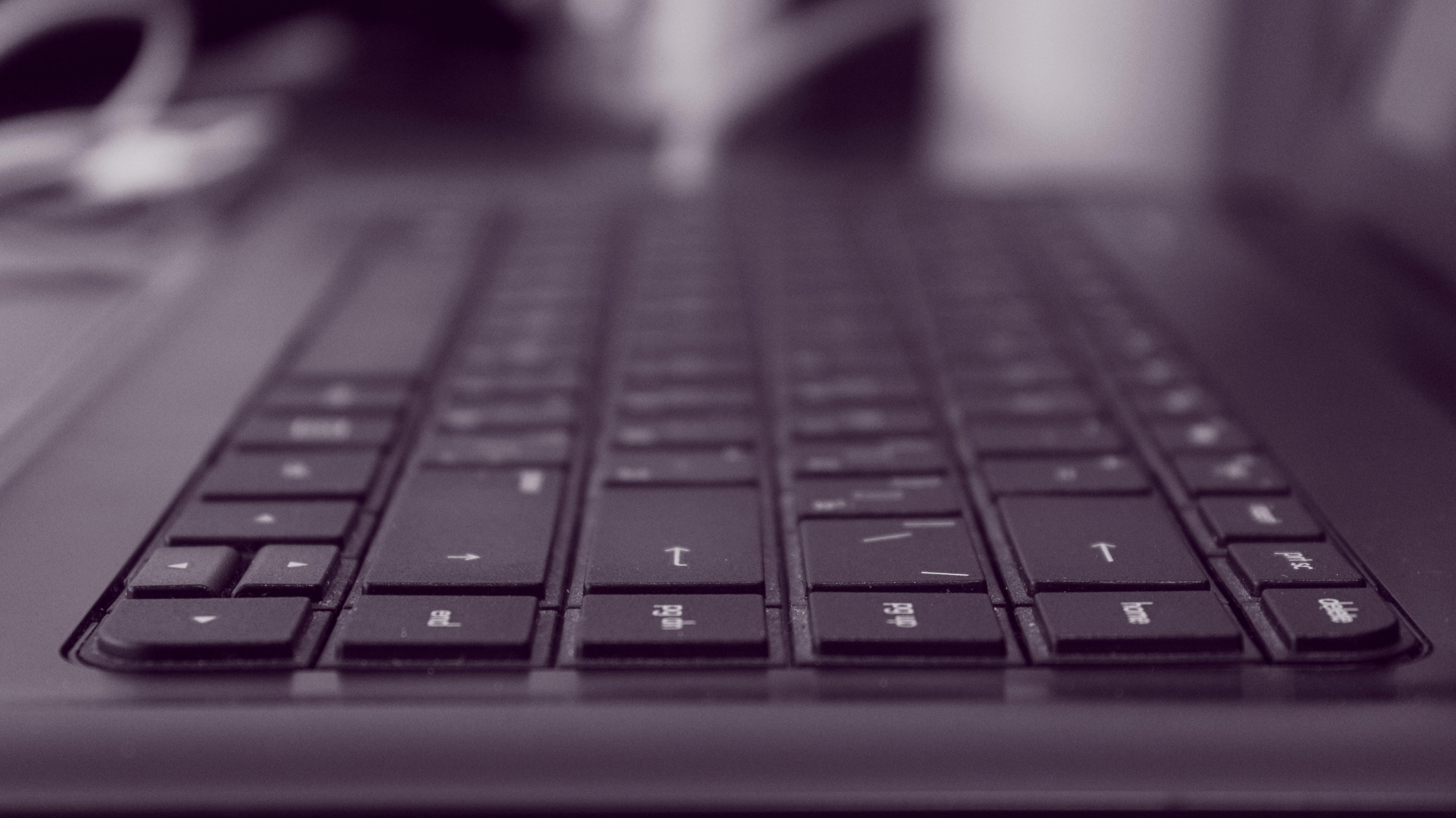 Selective Blur of Black Computer Keys