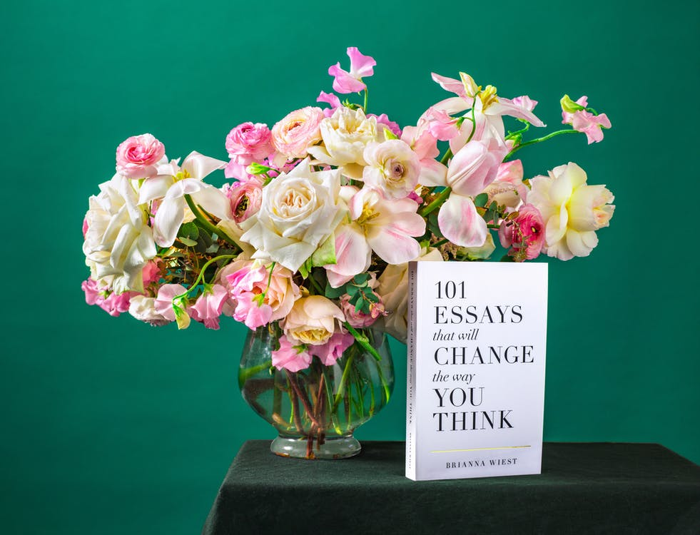 Book Beside Flowers