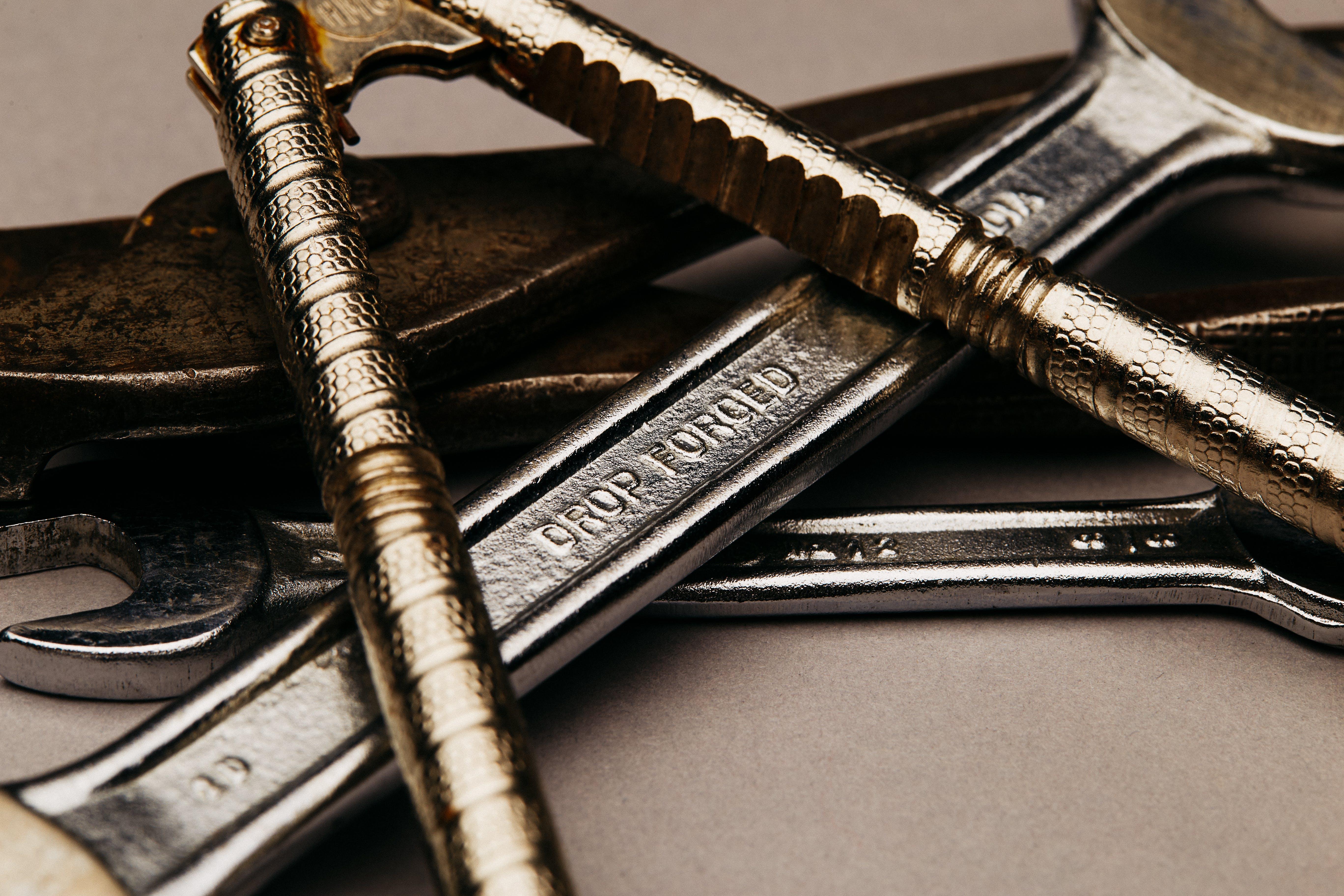 Gratis lagerfoto af lukke op, makro, metal, skruenøgle