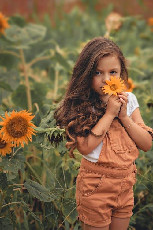 Základová fotografie zdarma na téma brunetka, dětství, dítě, držení