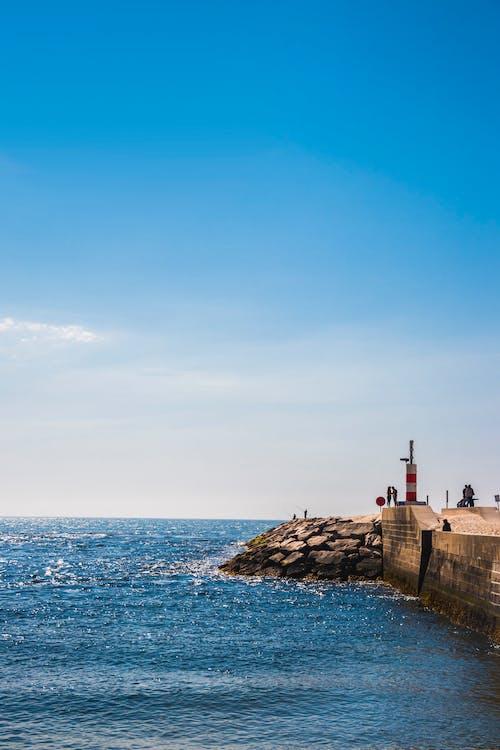Waves Crashed Sea Wall