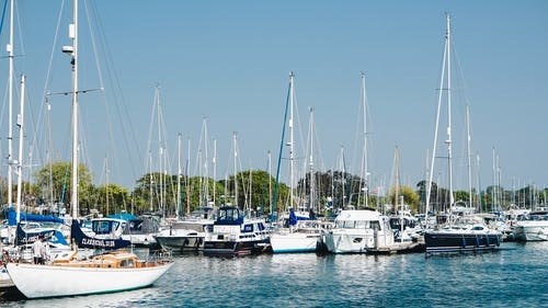 Free stock photo of #water, blue water, boats, marina