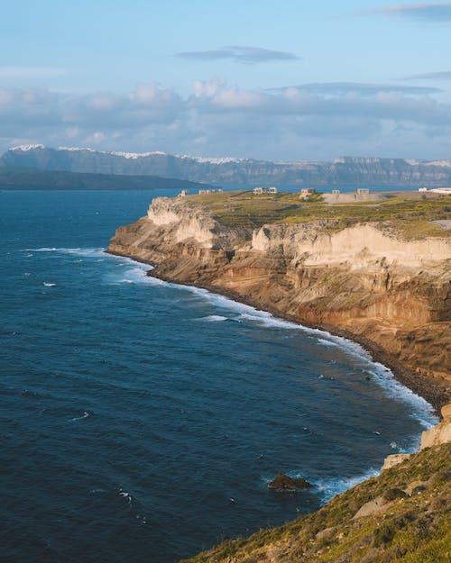 ada, bulutlar, çim, çim saha içeren Ücretsiz stok fotoğraf