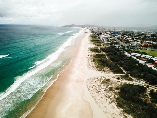 Free stock photo of beach, drone photography, water, waves