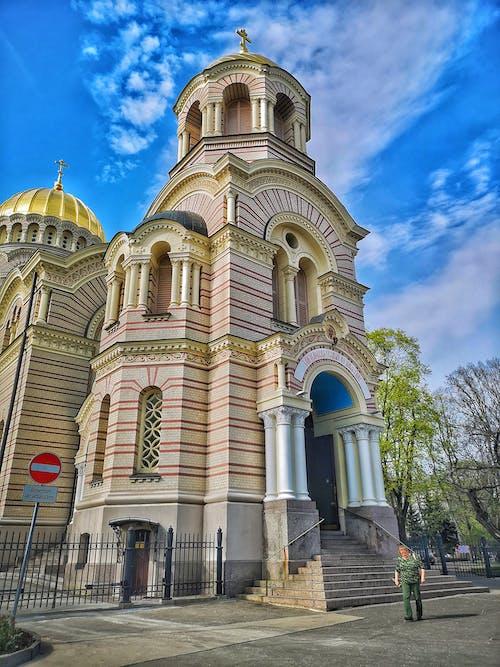 Darmowe zdjęcie z galerii z detal architektoniczny, fotografia uliczna, katedra, ryga