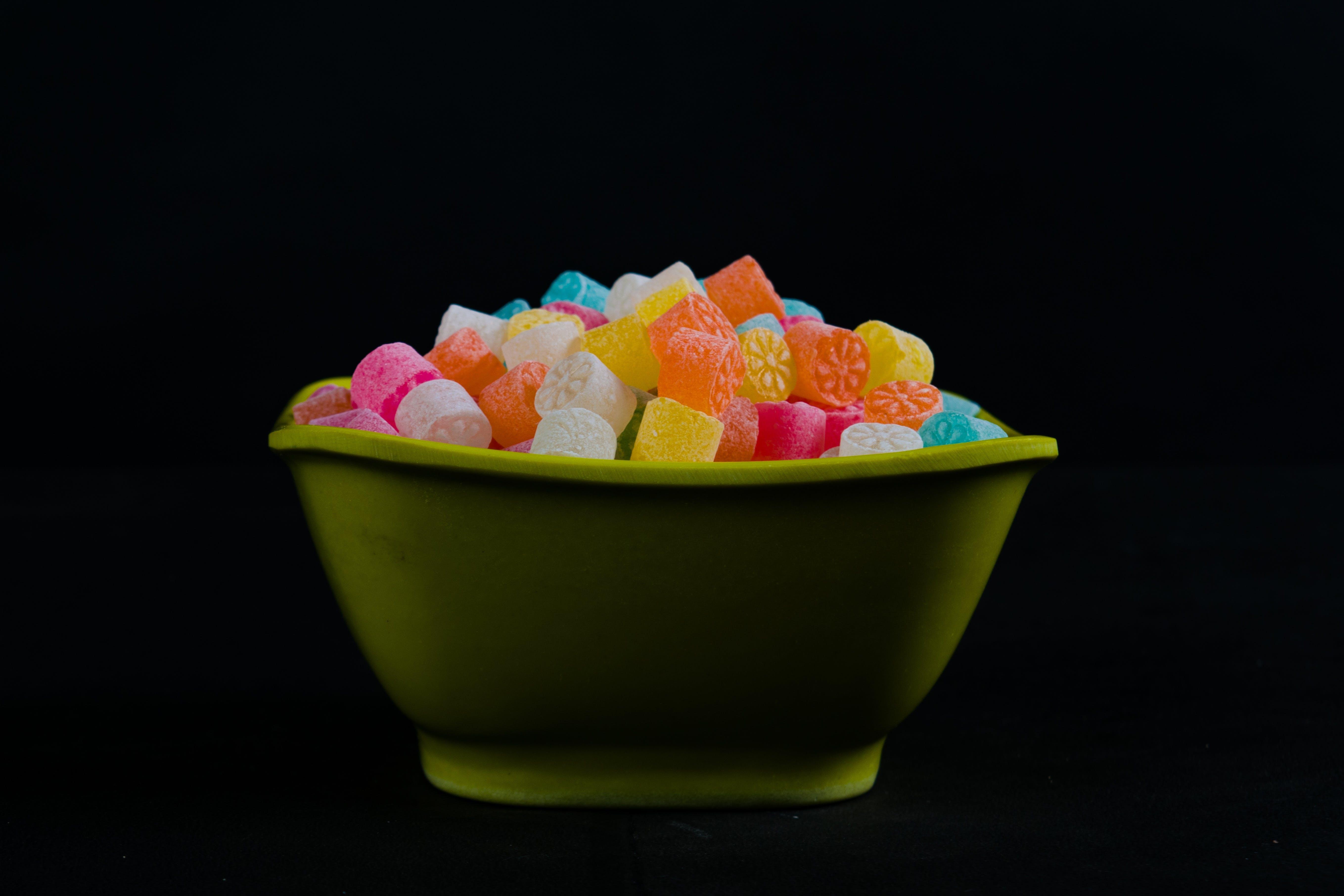 Foto stok gratis background hitam, fotografi makanan, gizi, Gula