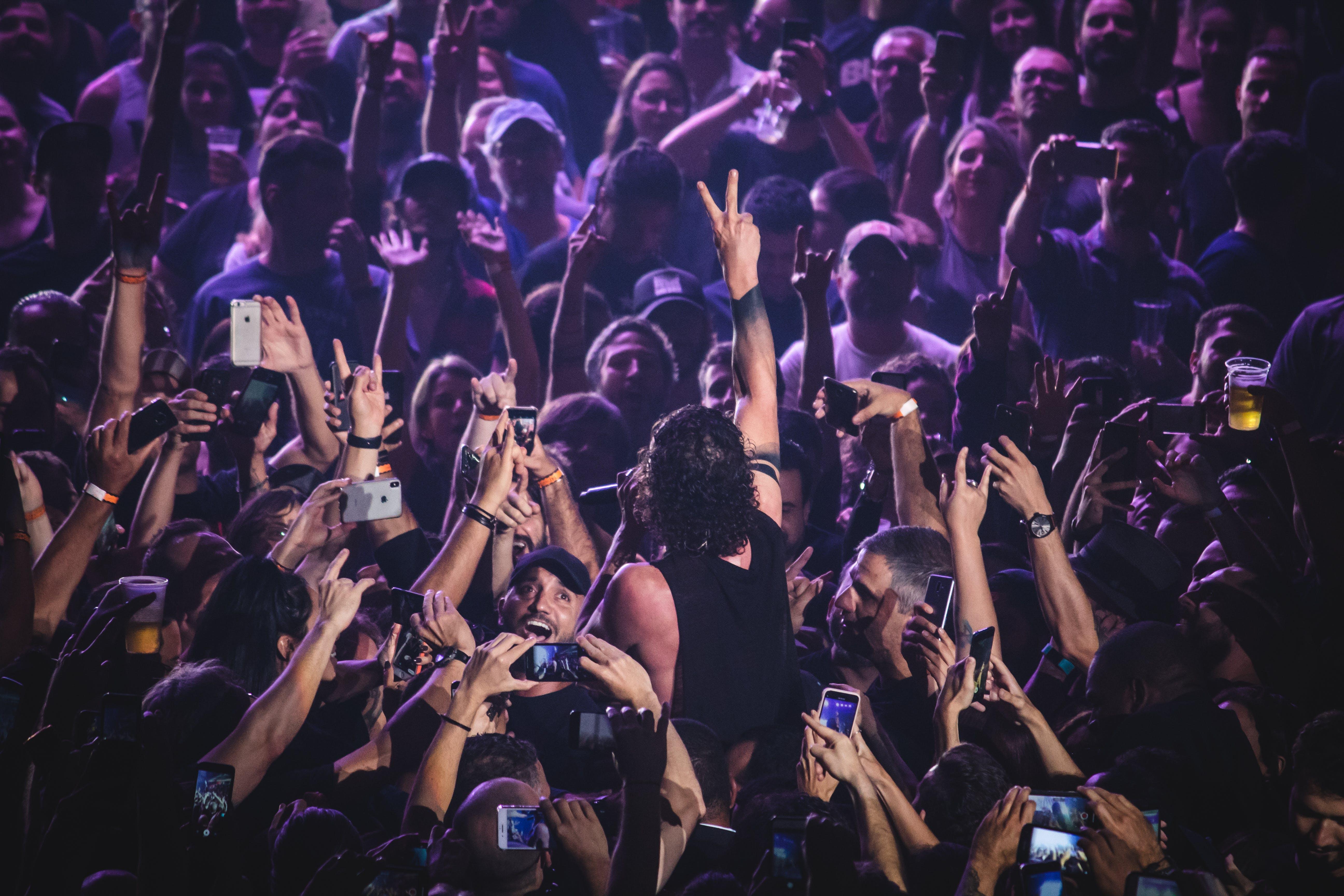 Fotobanka sbezplatnými fotkami na tému dav ľudí, fanúšikovia, hudba, ľahký