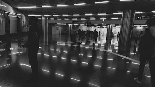 乘客, 人, 光反射, 出口指示牌 的 免费素材照片