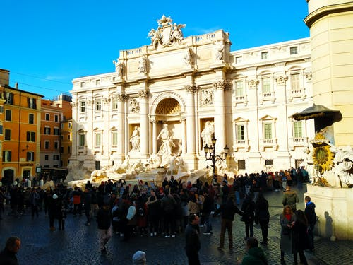 Free stock photo of architecture, fontana di trevi, people, rome
