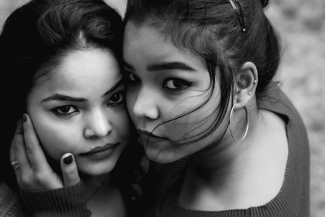 Grayscale Photography of Women