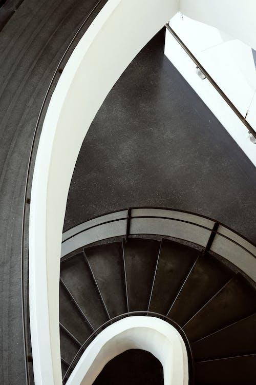 คลังภาพถ่ายฟรี ของ arquitecture, ขาวดำ, ตกแต่งภายใน, ทางลาด