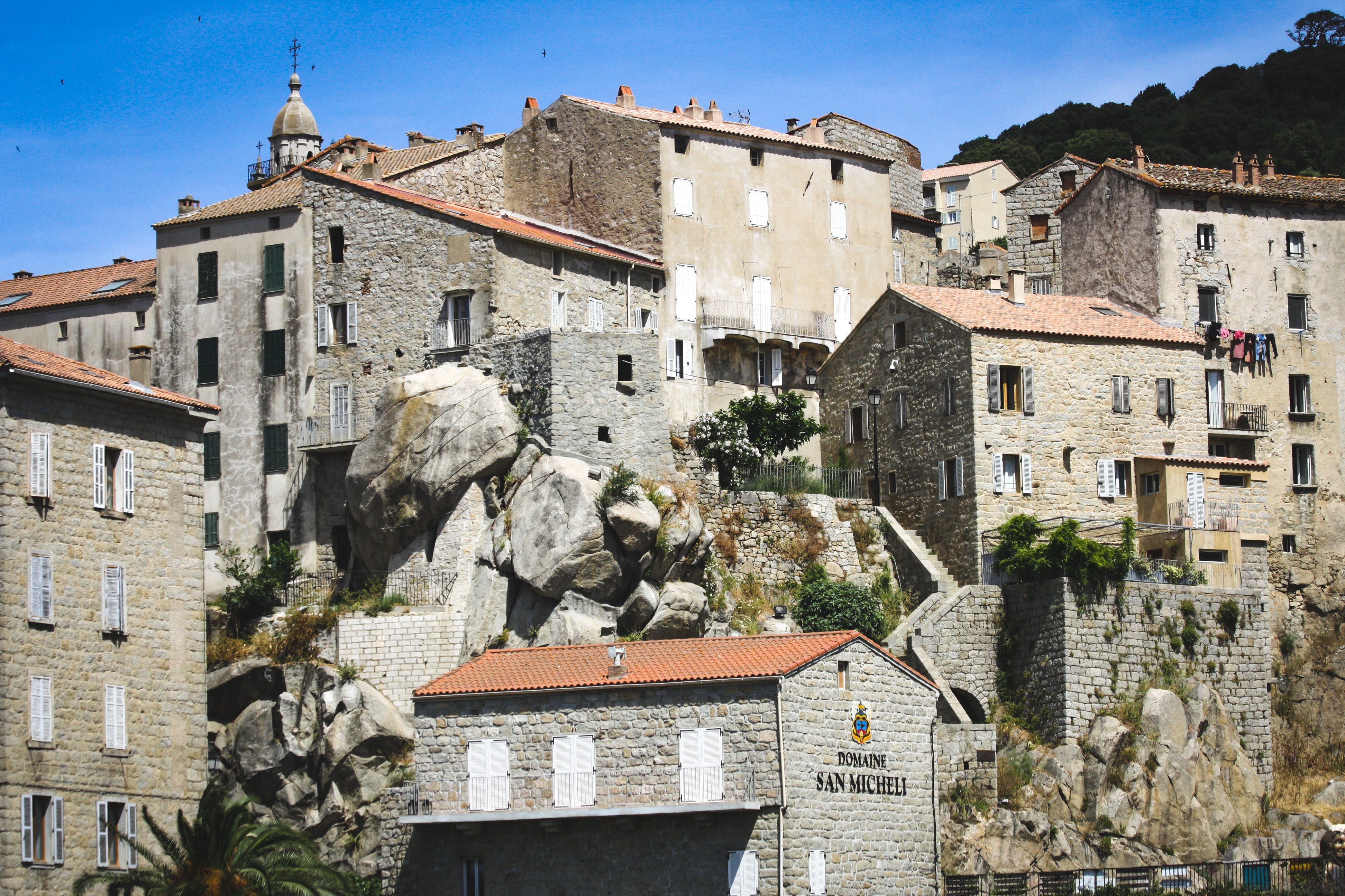 Free stock photo of beautiful landscape, building, clear sky, corsica