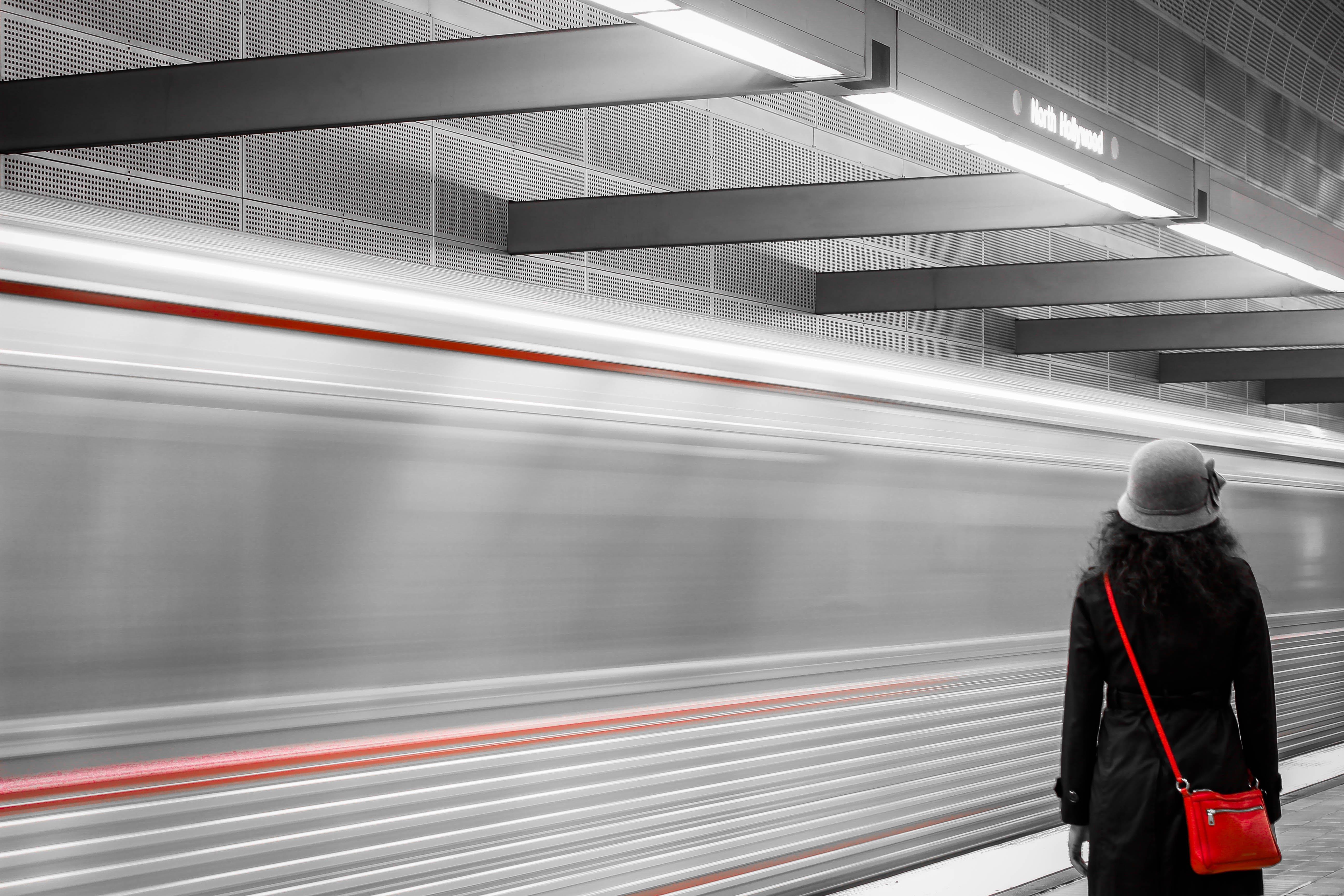 Δωρεάν στοκ φωτογραφιών με union station, αεροδρόμιο, άνθρωπος, ασπρόμαυρο