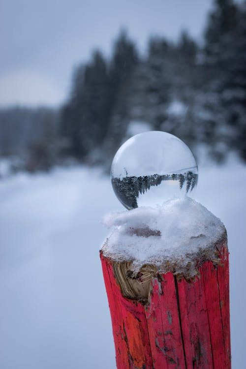 Free stock photo of Lensball, snow, winter