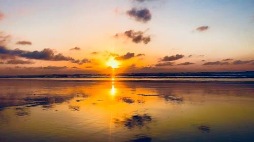 Imagine de stoc gratuită din apus, coucherdesoleil, plaja de soare