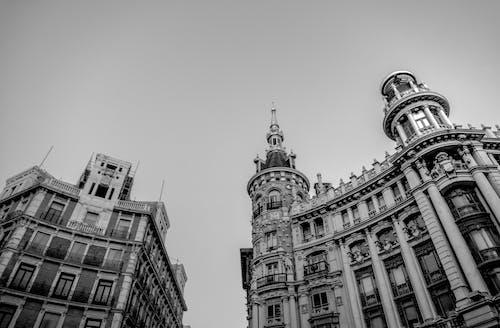 Základová fotografie zdarma na téma architektonický návrh, architektura, černobílý, cestování