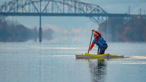 Fotobanka sbezplatnými fotkami na tému jeseň, most, rieka, veslovanie