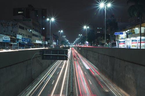 Foto d'estoc gratuïta de #urbà, exposició llarga, vesprada