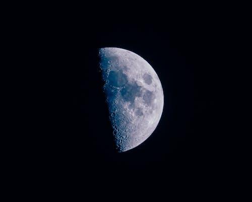 Fotobanka sbezplatnými fotkami na tému astrofotografia, mesiac, modrá